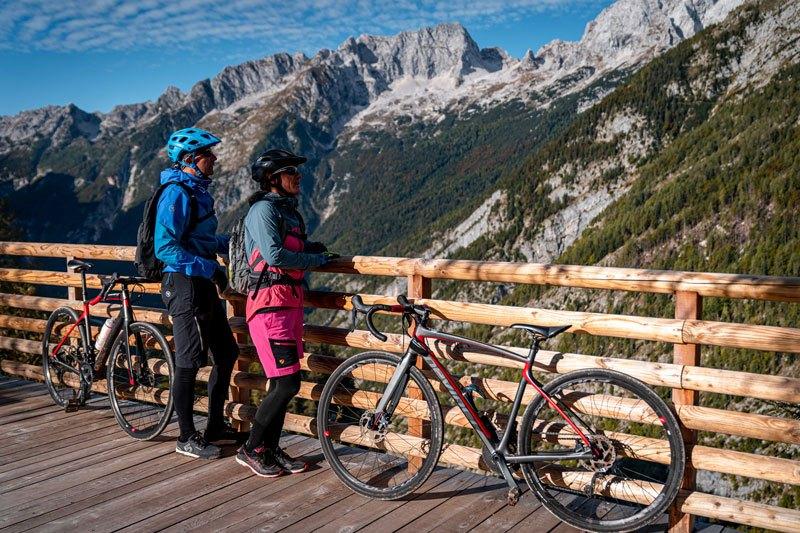 Epic Slovenia gravel bike tour view point