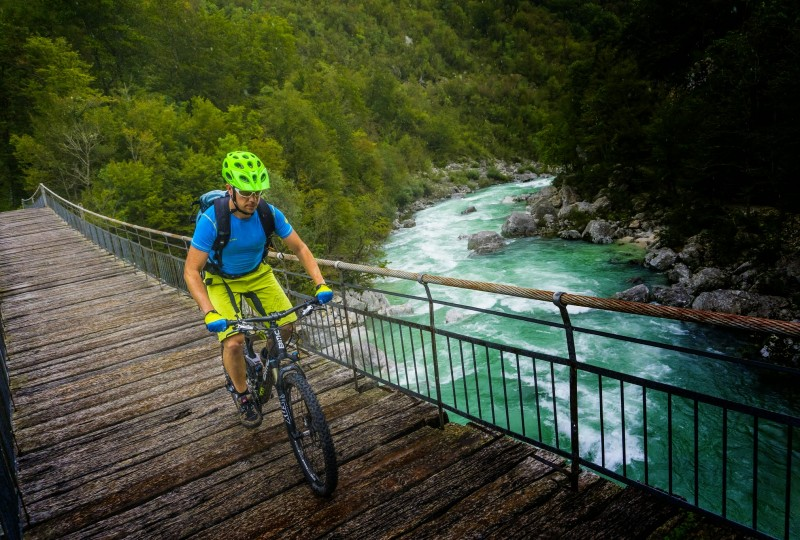 Crossing Soča MTB