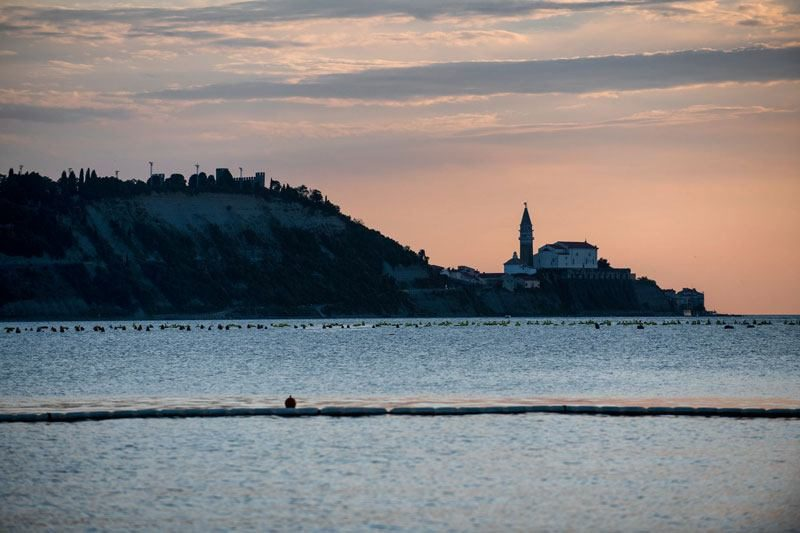 Trans Slovenia 2 piran at sunset
