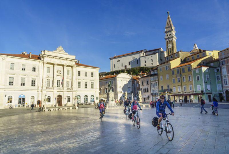 piran main square biking