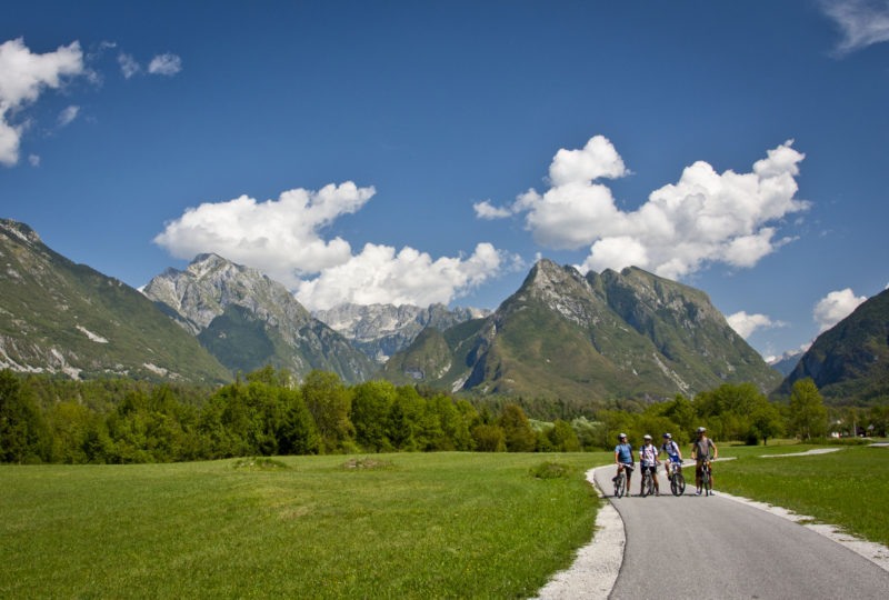 cycling in bovec with mount svinjak
