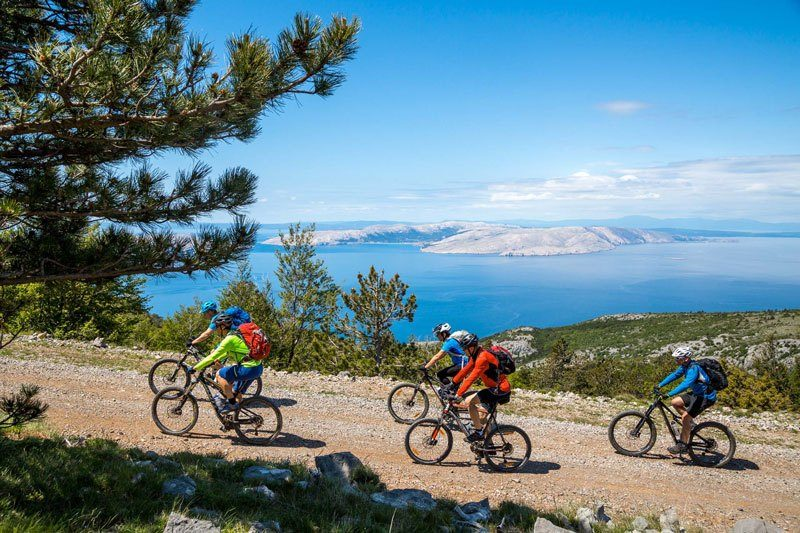 Trans Croatia Mountains to Islands group of bikers