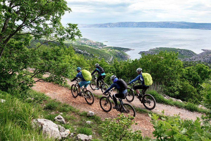 Trans Croatia Mountains to Islands mountain bikers