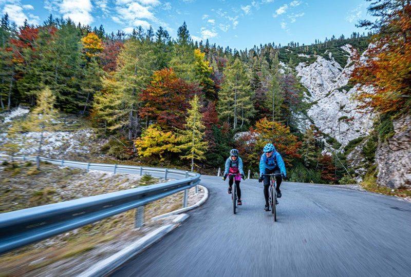 Around Triglav National Park cycling Vrsic autumn