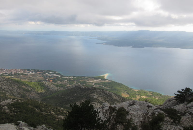 View of Bol at island Brač from bike tour croatian islands