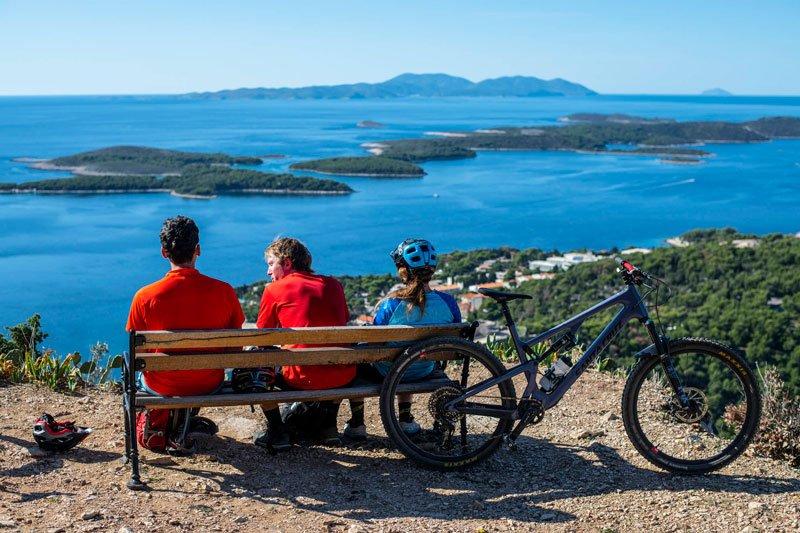 View of Bol at island Brač from bike tour croatian islands