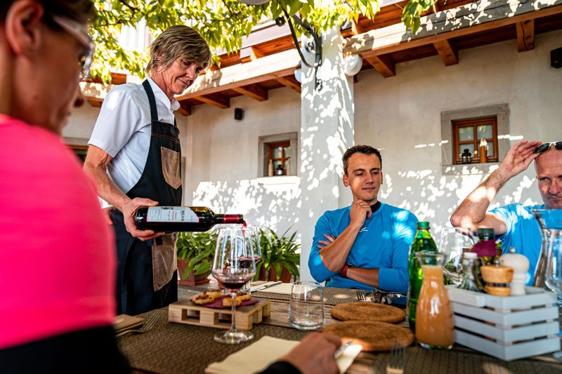 Slovenia top sights lunch with local food and wine