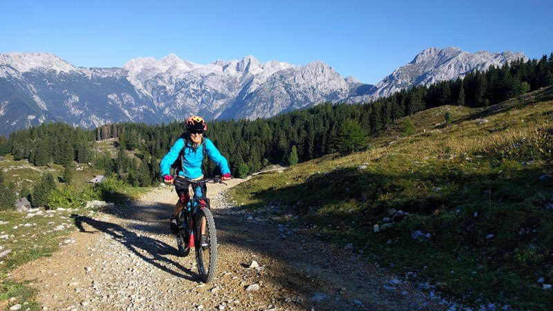 Trans Slovenia 4 woman MTB in mountains