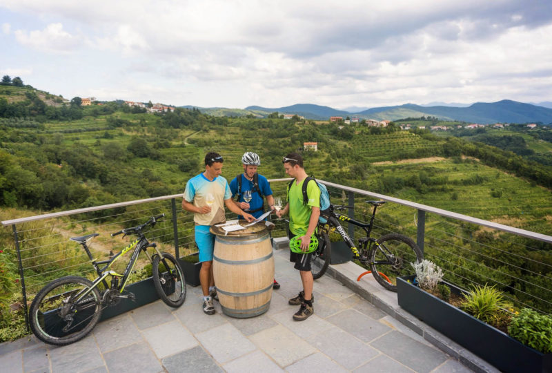 mountain biking through goriska brda