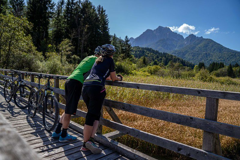 Bike Slovenia Green Kranjska Gora mountain view