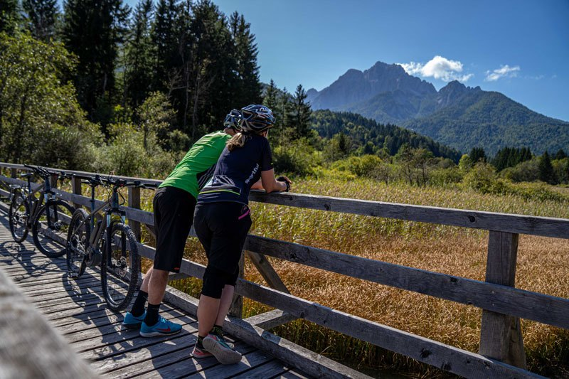 Bike Slovenia Green Kranjska Gora mountain view