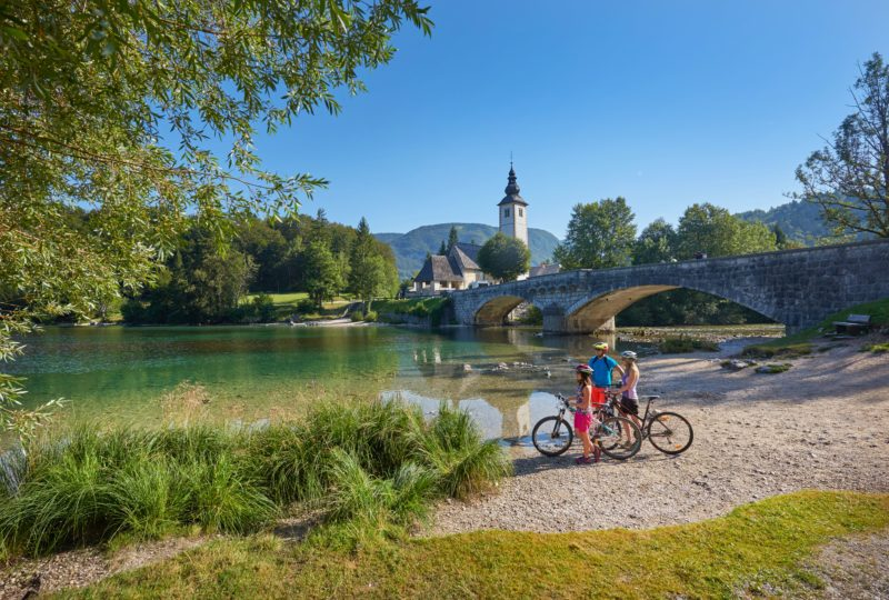 biking near bohinj lake