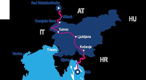 trans alpe adria map